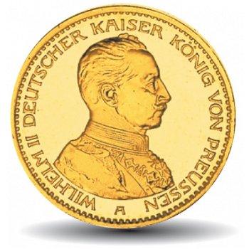 20 Mark Goldmünze König Wilhelm II., Königreich Preußen, Katalog-Nr. 253
