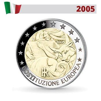 Europäische Verfassung, 2 Euro Münze 2005, Italien