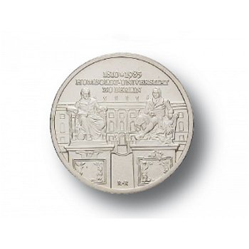 10-Mark-Münze 1985, 175 Jahre Humboldt-Universität Berlin, DDR