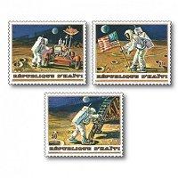 Weltraum: Apollo 15 - 3 Briefmarken postfrisch, Kat.Nr. 729-731, Haiti