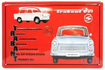 Blechschild:Trabant 601 De Luxe(30 x 20 cm)