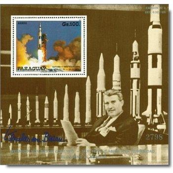 Apollo/Wernher von Braun - Briefmarken-Block postfrisch, Katalog-Nr. 4217 Bl. 451, Paraguay