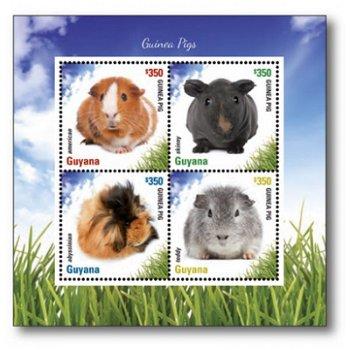 Meerschweinchen - Briefmarken-Block postfrisch, Guyana