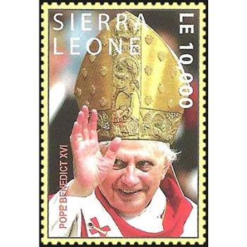 1. Jahrestag der Wahl von Papst Benedikt XVI. - Briefmarke postfrisch, Katalog-Nr. 4889, Sierra Leon