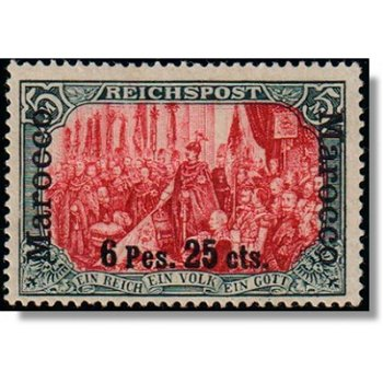 German Post in Morocco - Catalog No. 19 I / I unstamped