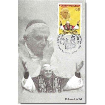 Papst Benedikt XVI. - Maximumkarte, Katalog-Nr. 1605, Bolivien