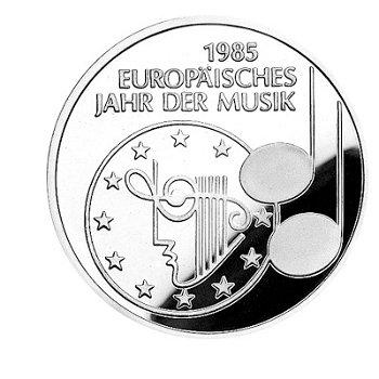 """5-DM-Münze """"Jahr der Musik"""", Polierte Platte"""