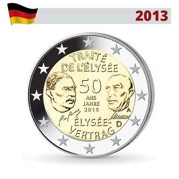 2 Euro Münze 2013, 50 Jahre Élysée-Vertrag, Deutschland, 1 Prägezeichen