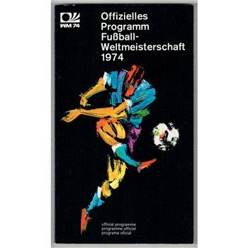 Offizielles Programm der Fußball-Weltmeisterschaft 1974