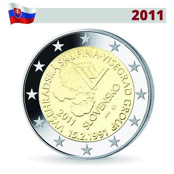 2 Euro Münze 2011, Visegrád-Abkommen, Slowakei