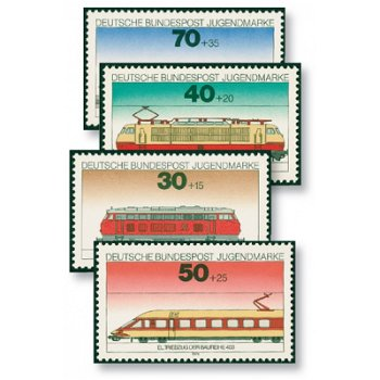 Moderne Eisenbahn-Klassiker - Katalog-Nr. 836-39, postfrisch, Bund