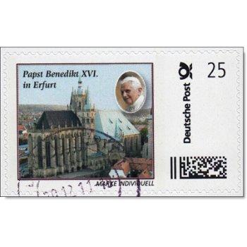 Papst Benedikt XVI. in Erfurt - Marke Individuell gestempelt