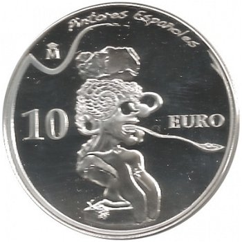 Salvador Dali, 10 Euro Silbermünze 2009, Spanien