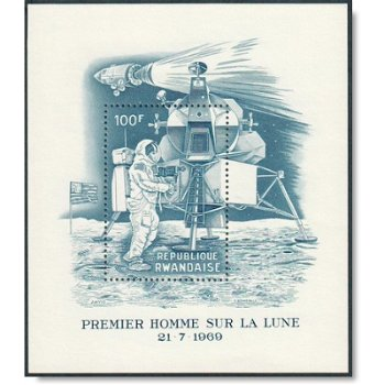 Apollo 11 - Block 21 postfrisch, Katalog-Nr. 337, Ruanda