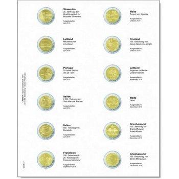 Lindner Vordruckblatt für 2 € Gedenkmünzen - Slow. 2016-Griechenland 2016, LI MU2E17