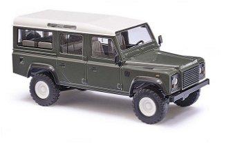 Modellauto:Land Rover Defender, grün(Busch, 1:87)