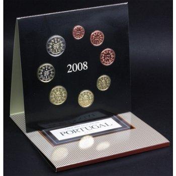 Kursmünzensatz 2008, Stempelglanz, Portugal