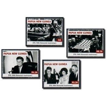 50. Todestag von John F. Kennedy - 4 Briefmarken postfrisch, Papua Neuguinea