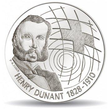 100. Todestag von Henri Dunant, 20 Franken Münze 2010 Schweiz, Stempelglanz