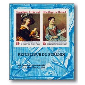 Internationale Briefwoche - Briefmarkenblock postfrisch, Burundi