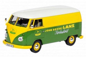 Modellauto:VW T1 Bus Kasten- John Deere-Lanz Kundendienst -(Schuco/PRO.R32, 1:32)