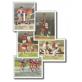 Olympische Sommerspiele 1976 - 5 Briefmarken ungezähnt postfrisch, Katalog-Nr. 531-535, Niger