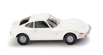 Modellauto:Opel GT von 1968, weiß(Wiking, 1:87)