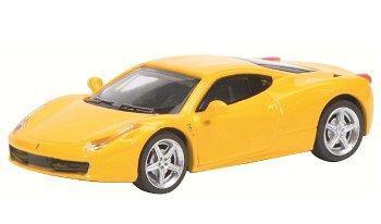 Modellauto:Ferrari 458 Italia, gelb(Schuco, 1:87)