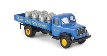Modell-LKW:Magirus-Deutz 125 - Ulmer Gold-Ochsen -(Brekina, 1:87)