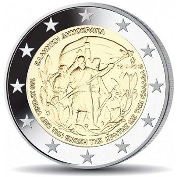 100. Jahrestag der Vereinigung mit Kreta, 2 Euro Münze 2013, Griechenland