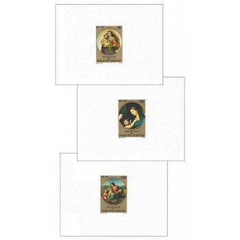 """Weihnachten """"Madonnengemälde von Raffael"""" - 3 Luxusblocks postfrisch, Katalog-Nr. 814-816,"""