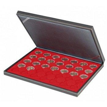Nera Münzkassette M für 2 Euro Münzen gekapselt, Münzeinlage rot, Lindner 2364- 2530E