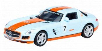 Modellauto:Mercedes-Benz SLS AMG Coupé- Gulf - mit # 7(Schuco, 1:87)