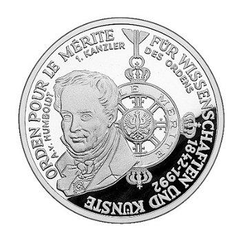 """10-DM-Silbermünze """"150 Jahre Pour le Mérite"""", Polierte Platte"""
