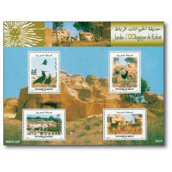 Zoologischer Garten - Briefmarken-Block postfrisch, Marokko