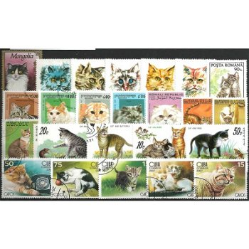 Hauskatzen - 100 verschiedene Briefmarken