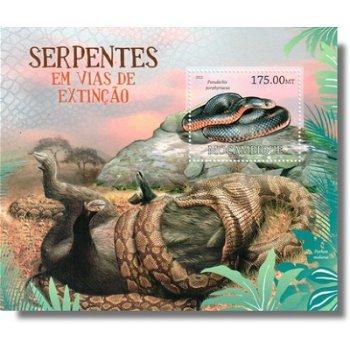 Schlangenarten - Briefmarken-Block postfrisch, Katalog-Nr. 5766 Bl. 629, Mocambique