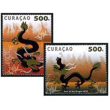 Chinesisches Neujahr: Jahr des Drachen – Briefmarken postfrisch, Katalog-Nr. 81-82, Curacao