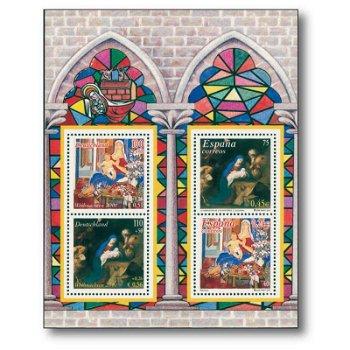 """Gemeinschaftsausgabe """"Weihnachten 2001"""" - Briefmarken-Block postfrisch, Deutschland/Spanie"""