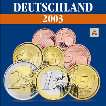 Germany - coin set 2003, mint mark A