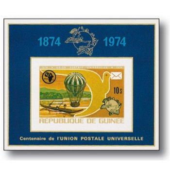 100 Jahre Weltpostverein - Briefmarkenblock postfrisch, Guinea
