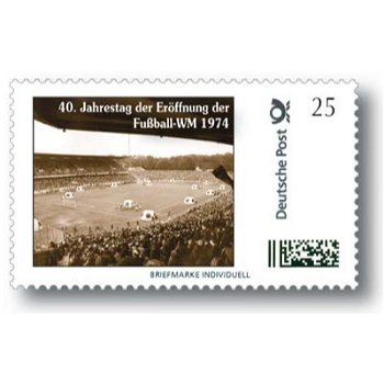 40th anniversary of the opening of the soccer World Cup 1974 - brand Individuell mint never hinged, Germany