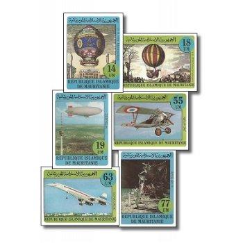 200. Jahrestag der ersten Fahrt einer Montgolfiere - 6 Briefmarken ungezähnt postfrisch, Katalog-Nr.