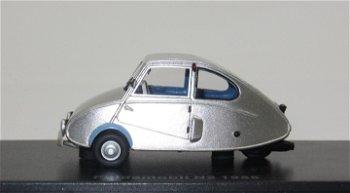 Modellauto:Fuldamobil N2 von 1955, silber(BoS, 1:43)