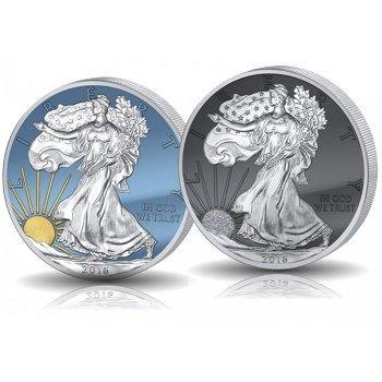 American Eagle 2016: Sonne und Mond, Jubiläums-Set mit 2 Münzen, USA