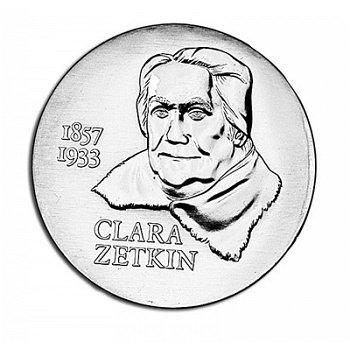 125. Geburtstag Clara Zetkin, 20 Mark Münze 1982, DDR