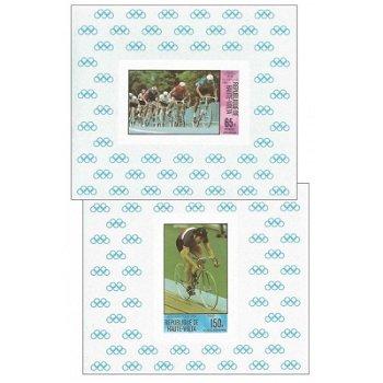 Olympische Sommerspiele 1980 - 4 Luxusblocks postfrisch, Katalog-Nr. 795-798, Obervolta