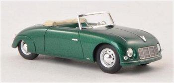 Modellauto:Porsche Waibel Special Sport Cabriolet von 1948, grün-metallic(NEO, 1:43)