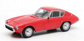 Modellauto:Ghia Fiat 1500 GT Coupé von 1964, rot(Matrix, 1:43)