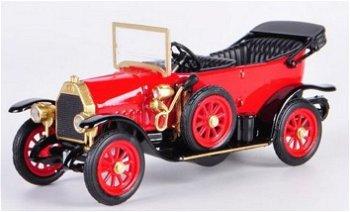 Modellauto:Fiat Zero Cabriolet von 1914, rot(Rio, 1:43)